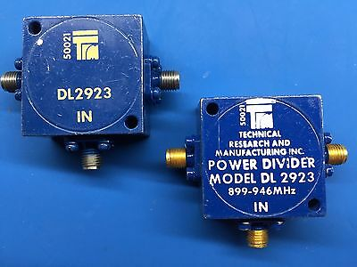 2x TRM DL 2923 DL2923 Power Divider 899-946MHz SMA