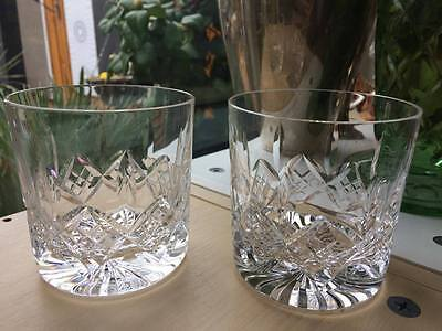 A Pair of Beautiful Stuart Cut Crystal Glengarry Whisky Tumblers Glasses