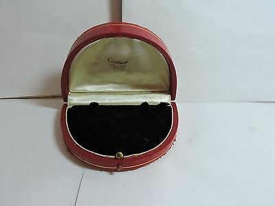 Antique Vintage Red CARTIER Earrings or Cufflinks Jewelry Box  #2k