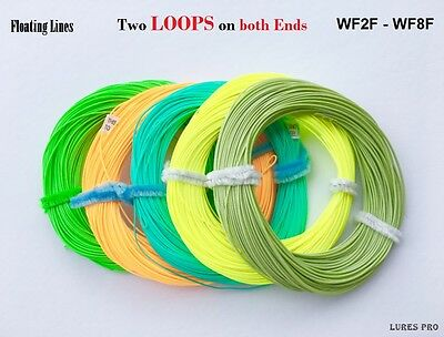 Fishing Fly Line 100FT Weight Forward  2F 3F 4F 5F 6F 7F 8F welded loops