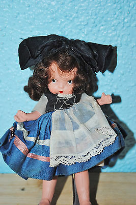 RARE 30s JUDY ANN Nancy Ann bisque Storybook Doll #25 French MS/MB PT Pudgy LOOK