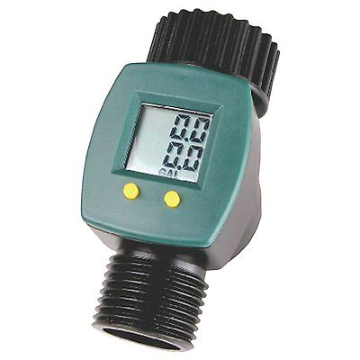 Digital Display Water Flow Consumption Meter Reader LCD Display Garden Hose
