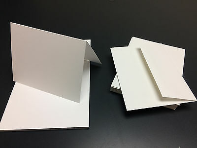 """A2 4.25"""" x 5.5"""" Folded Blank Cards with White Envelopes Thank You/Greeting Cards"""