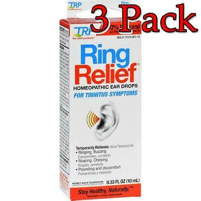 Ring Relief Homeopathic Ear Drops, 0.33oz, 3 Pack 858961001334S699