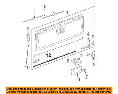 Left Genuine GM 25838260 End Gate Cable