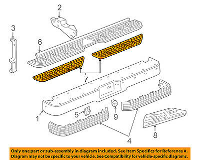 GM OEM Rear Bumper-Step Pad Protector Guard Sill Plate 15203718