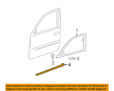 Cadillac GM OEM 06-11 DTS FRONT DOOR-Body Side Molding Right 22760266