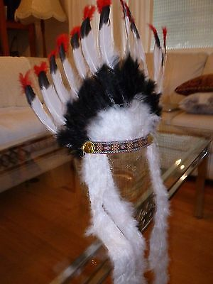Indian Chief Head Feathers,Fancy Dress,Carnival