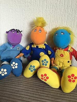 Tweenies x 3 Bundle Toys Plush Soft Toys Figures TV Characters Jake Milo Bella