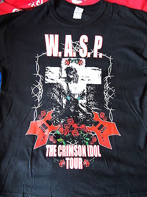 W.A.S.P.Crimson Idol TOUR Tshirt XL MotleyCrue AliceCooper Blackie Lawless Kiss