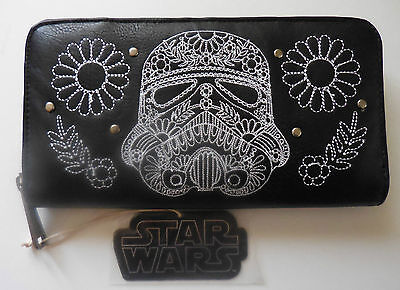 Disney Wallet by Loungefly Black Leather Star Wars Stormtrooper New