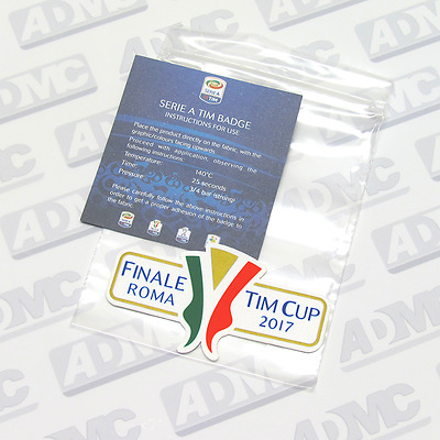 Finale Roma 2017 TIM Cup patch, toppa,  official, Serie A, player issue