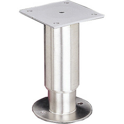 "Stainless Security/Seismic 1-5/8"" Equipment Leg w/ Welded Mounting Plate"