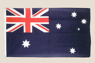 Australia Flag 3x5 Red White Blue Polyester 2 Brass Grommets Country Aussie