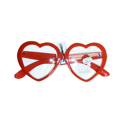 Red Heart Shaped Clear Glasses Love Hart Frame Novelty Accessory Adult