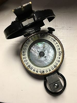 1943 British Professional Mk.111 Compass With Leather Case