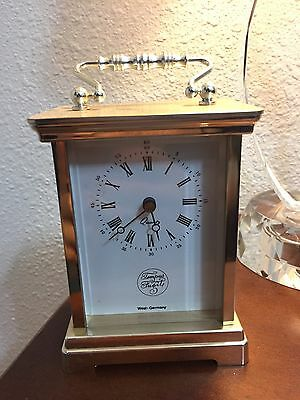 Vintage Tempus Fugit Clock West Germany Mantel Shelf Traditional Key - Working
