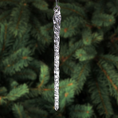 6 Inch Clear Glass Icicle Ornaments Christmas Tree Hanging