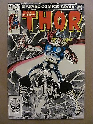Thor #334 Marvel Comics 1966 Series 9.2 Near Mint-