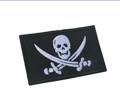Skull Flag Morale Badge Milspec Tactical 3D Army Embrodiery Hook Loop Patch -01