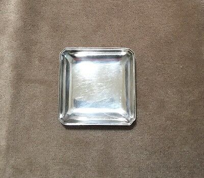 Antique Sterling Silver 970  Tiny Square Shape Dish