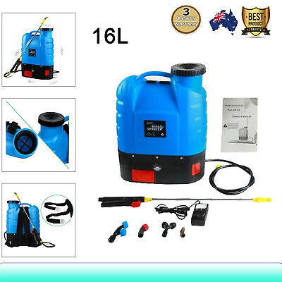 16L 12V WEED SPRAYER Rechargeble Battery Backpack Knapsack Garden Pump 18 Tanks