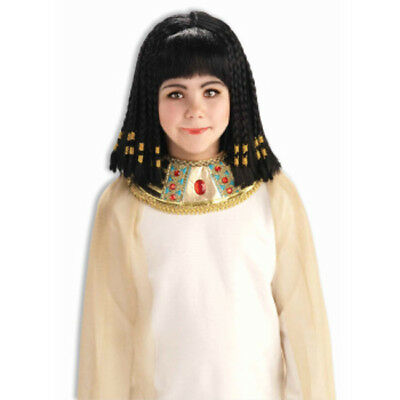 Child Queen of The Nile Wig Cleopatra Black Egyptian Accesories Head