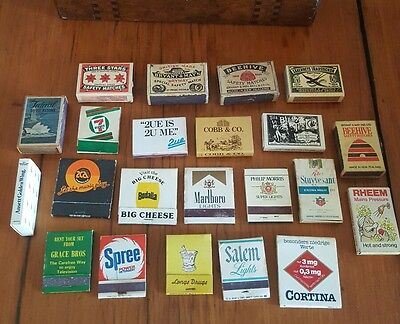 lot of 22x Vintage Matchbooks and matchboxes - advertising cigarettes etc