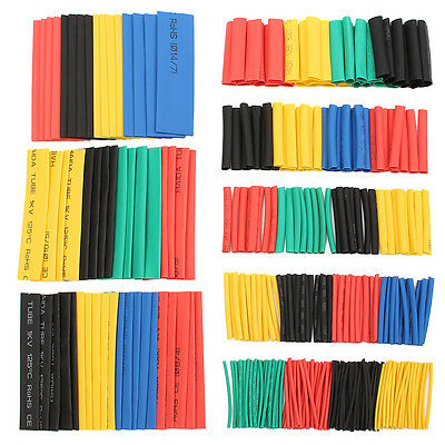 656Pcs 8 Sizes Assortment 2:1 Heat Shrink Tubing Sleeving Wrap Wire Kit