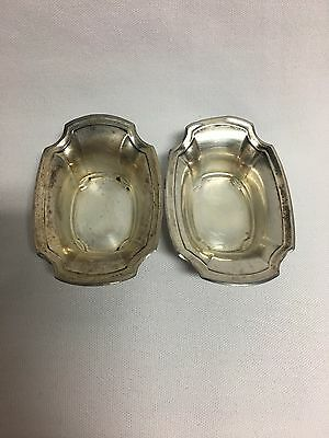 Wallace 1610 Sterling Silver Pair Open Salt Dips Cellars No Mono