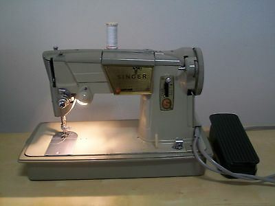 Singer Sewing Machine 328P With Case And Peddle.