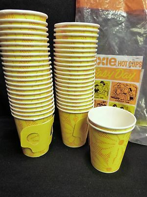 45 Vintage NOS 1970's Yellow Floral Dixie 7 oz. Hot Cups  Original Wrapping