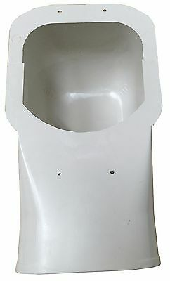 ***brand New Outdoor Unit Trunking Pvc Wall Inlet Cap 2 Piece - 100Mm