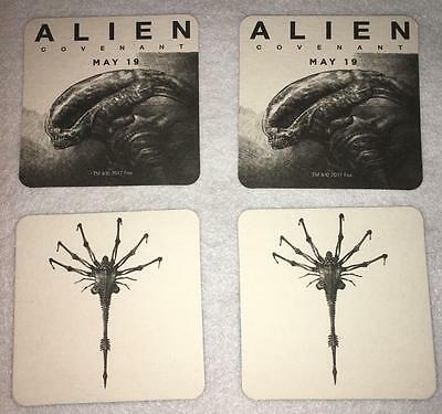 ALIEN COVENANT Set of 4 Original Promotional COASTERS Double Sided NEW 2017 Rare