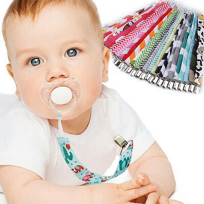 Top Sale 1PCS Toddler Newborn Baby Dummy Pacifier Soother Leash Strap Clip Gift