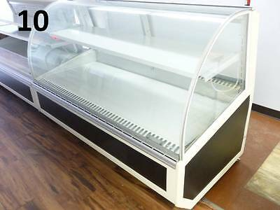Federal Industries SN6CD-2 Refrigerated Curved Glass Display Case Bakery Dessert