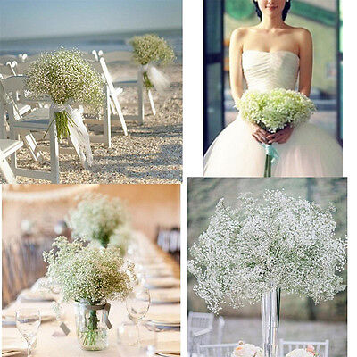 20x Artificial Fake Floral Gypsophila Silk Flowers Bouquet Home Wedding Decor