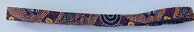 Genuine Aboriginal Print Cotton on Leather Hat Band  with JACARU Badge for All
