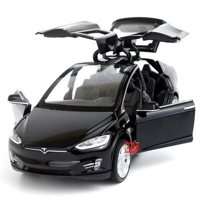 1:32 Tesla Model X 90D SUV Diecast Model Car Sound&Light Pull Back Toy Black
