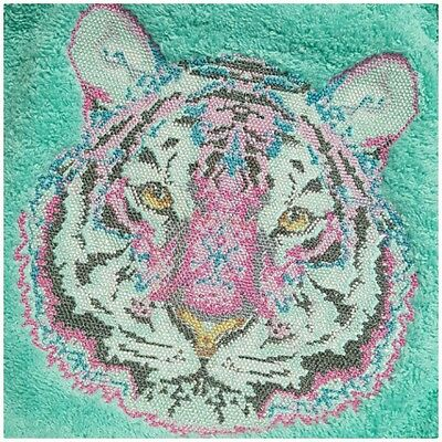 Embroidered Towel -Bath sheet- Tula Pink's Tiger.