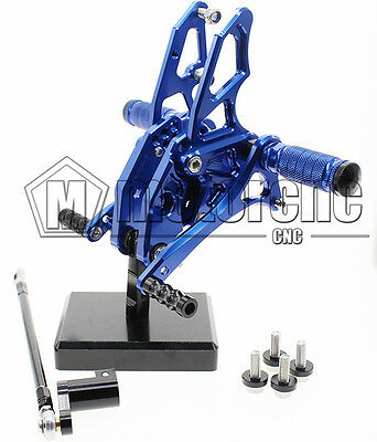 Blue Rearset Rear Footpeg Foot Rest For YAMAHA YZF R15/R150 2012-2015