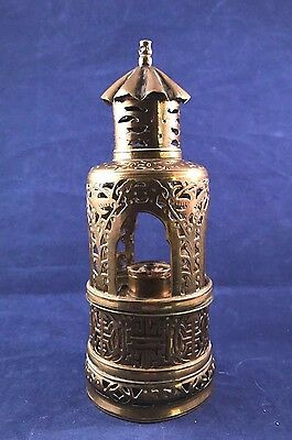 """Antique Brass Chinese Opium Lamp """"Bird Cage Style"""""""