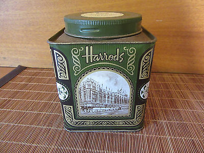 HARRODS EARL GREY BLEND No. 42 TEA TIN - EMPTY - MADE IN ENGLAND