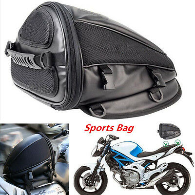 Portable Motorcycle Sport Tail Bag Back Seat Storage Carry Bag Hand Shoulder Bag