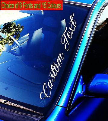 500mm CAR 4x4 Windscreen STICKER DECAL CUSTOM Vinyl Film Name Lettering Graphics