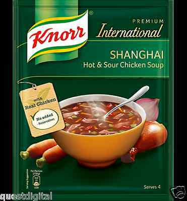 38g Knorr Shanghai Hot & Sour Chicken Soup Serves 4 Chinese Soup 4 Portions