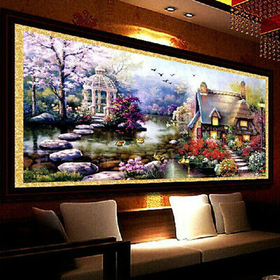 5D Diamond Mosaic Landscapes Dream Garden Lodge Full Painting Cross Stitch Kits