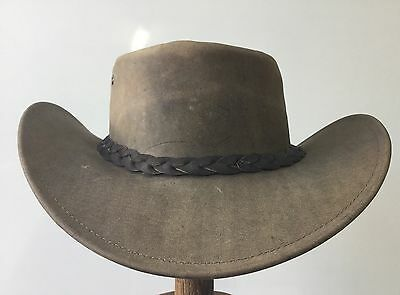 DRIZA-Bone Kangaroo leather hat  Australian made  ON SALE western Outback 61cm