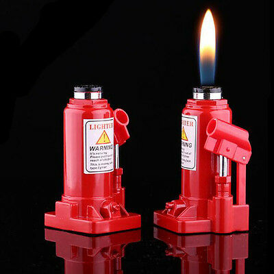 Red Jack Shaped Lighter Flame Refillable Butane Gas Cigarette Cigar Smoke Gift