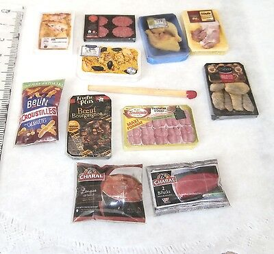Miniatures Aliments factices Maison Poupée Vitrine Doll House Food Barbie 1/12